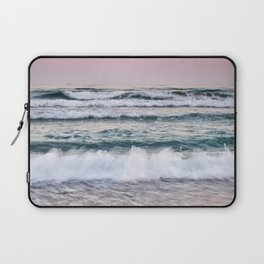 Beautiful waves. Sunset at the beach. Laptop Sleeve