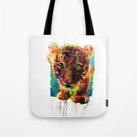 tiger Tote Bags featuring tiger by ururuty