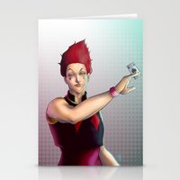 hunter x hunter Stationery Cards featuring Hisoka - Hunter x Hunter by DocLew