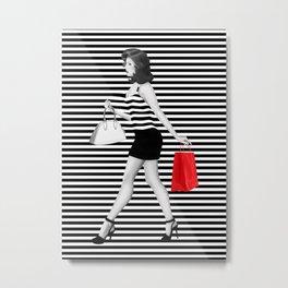 Stripes in fashion Metal Print