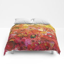 Pink Coral Yellow 2015 Comforters