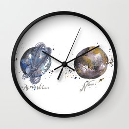 Moon and Nimbus Wall Clock