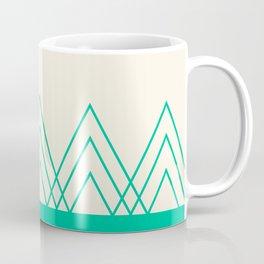 Mint Triangles Coffee Mug