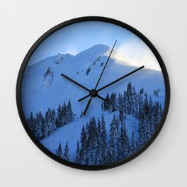 Ghosts In The Snow Wall Clock