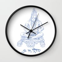 shiva Wall Clocks featuring SHIVA by Psychedelic Bugs - Besouro Independente
