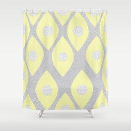Eye Pattern Yellow Shower Curtain