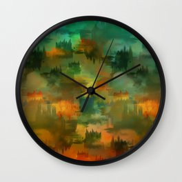 """""""Abstract forest in Autumn"""" Wall Clock"""