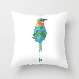 Whimsy bobo bird Throw Pillow