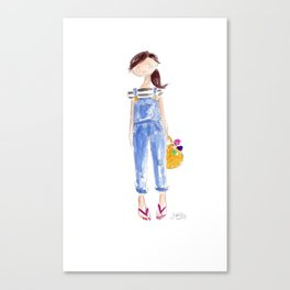 Overall Girl Canvas Print