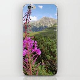 Carpathian Tatry Mountain and Flower Summer Landscape Photo iPhone Skin