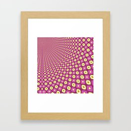 Groovy Pink Psychedelic Pattern Framed Art Print