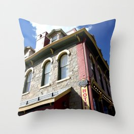 "On Greene Street - The ""Main Drag"" of Silverton, No. 2 of 3 Throw Pillow"