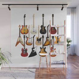 Too Many Guitars! Wall Mural