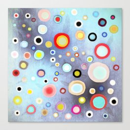 Nebulous Blue abstract circles Canvas Print