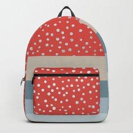 Sea Hues and Silver Dots Backpack