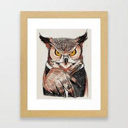 The Twelfth Doctor Hoo Framed Art Print