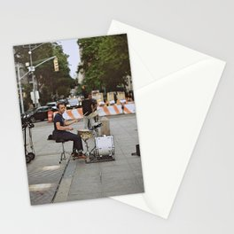 Drummer in the Park Stationery Cards