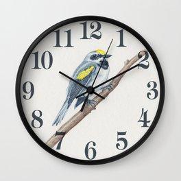 Golden-Winged Warbler Wall Clock