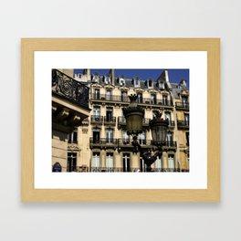 Parisian Lamp Posts Framed Art Print