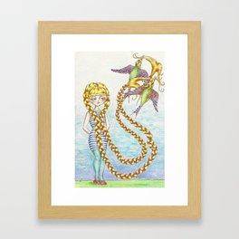 hair oh so light as a feather Framed Art Print