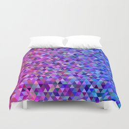 Pink and blue triangles Duvet Cover