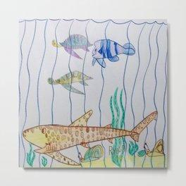 Leopard Shark & Friends Metal Print
