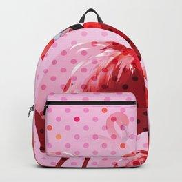 Watercolor Flamingo Pattern Backpack