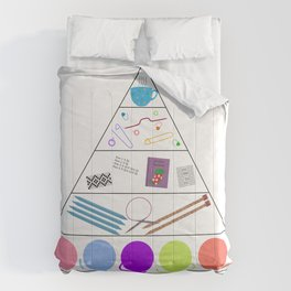 Knitter's Food Pyramid Comforters
