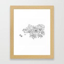 Bouquet (fraction) Framed Art Print