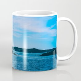Blue Cost of Morocco in the Summer. Travel Photography. Coffee Mug