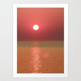 Sunset Sailboat 2012 Art Print