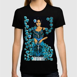 Woman Blue Carnations for the Jazz Singer T-shirt