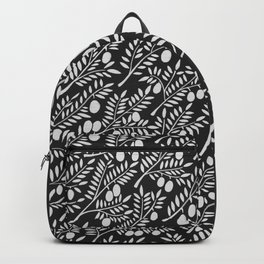 White Olive Branches Backpack