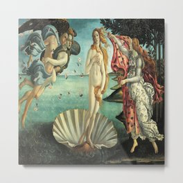 Sandro Botticelli's The Birth of Venus Metal Print