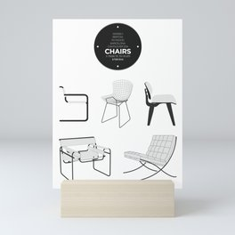 CHAIRS - A tribute to seats (special edition) Mini Art Print