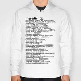 Composition of the human body /black Hoody