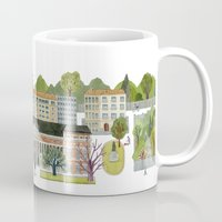 madrid Mugs featuring Madrid by Sara Olmos - teconlene