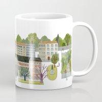 real madrid Mugs featuring Madrid by Sara Olmos - teconlene