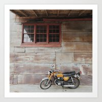 motorbike Art Prints featuring Motorbike by Mandy Andree