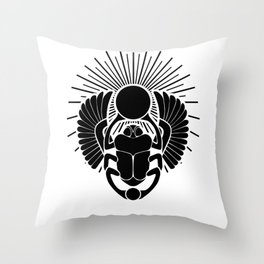 Egyptian Scarab God Throw Pillow