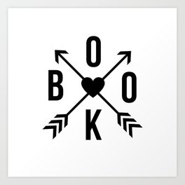 Book with Arrows and Heart Art Print