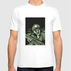 This is my Weapon MEDIUM Mens Fitted Tee White