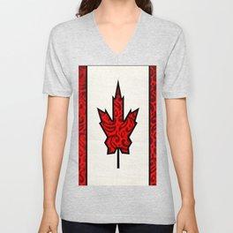 Regal Canadian Flag Unisex V-Neck
