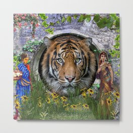 A wildlife, Bengal-tiger Metal Print