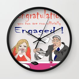Almost engaged Wall Clock