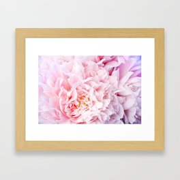 Peony Flower Photography, Pink Peony Floral Art Print Nursery Decor A happy life - Peonies 3 Framed Art Print