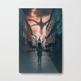 Strange Things in Budapest Metal Print