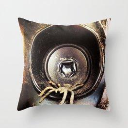 Spider Beats Throw Pillow