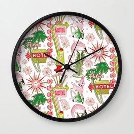 Motel Kitsch Wall Clock