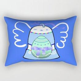Blue Bell on Blue Rectangular Pillow